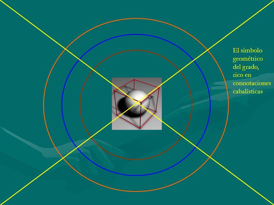El símbolo geométrico del grado, rico en connotaciones cabalísticas