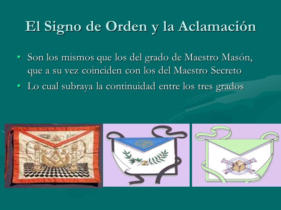 El Signo de Orden y la Aclamación