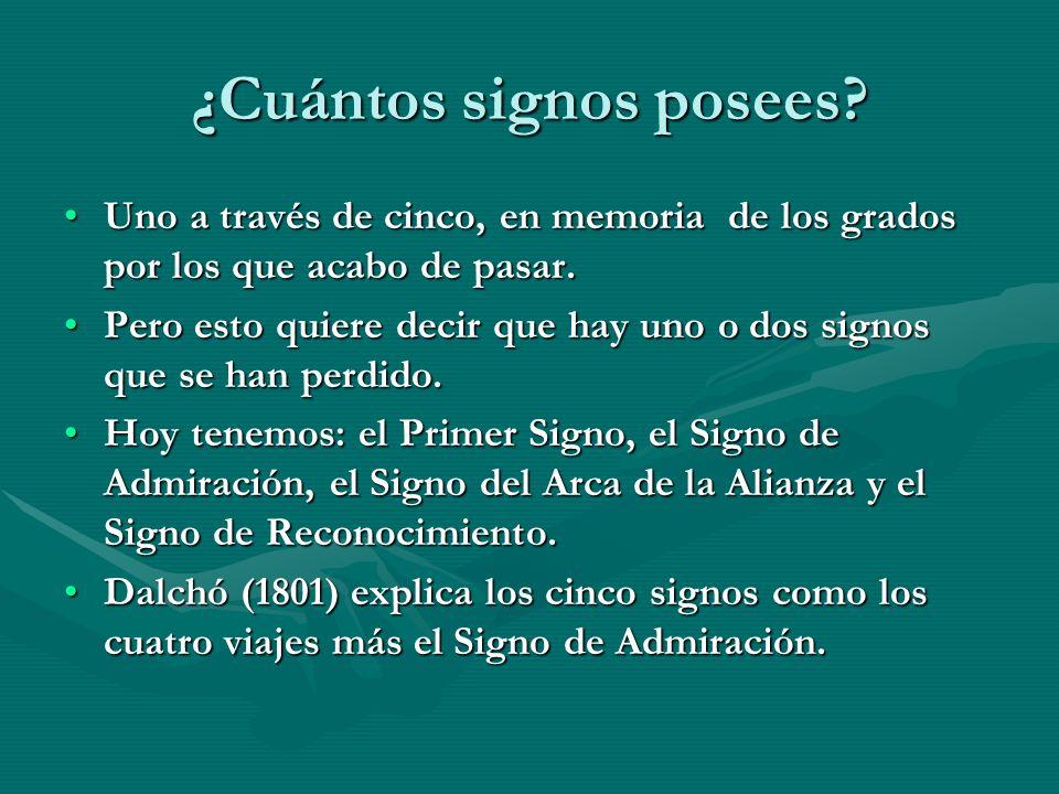 ¿Cuántos signos posees