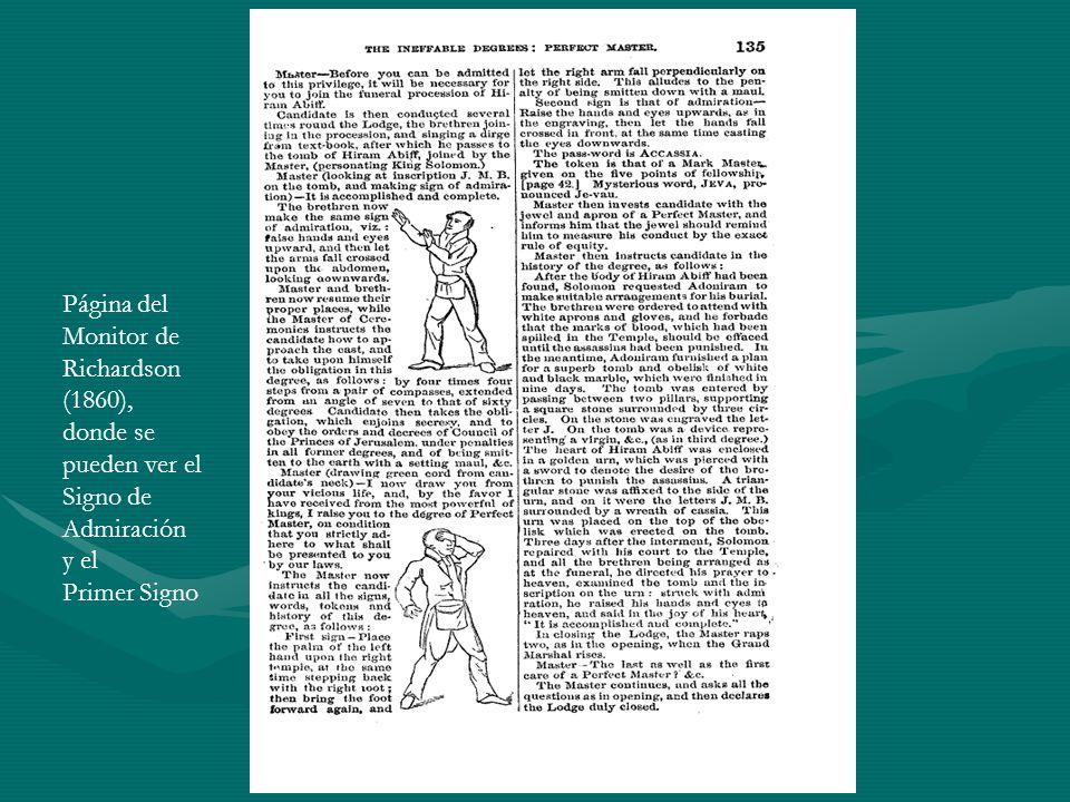 Página del Monitor de. Richardson. (1860), donde se. pueden ver el. Signo de. Admiración. y el.