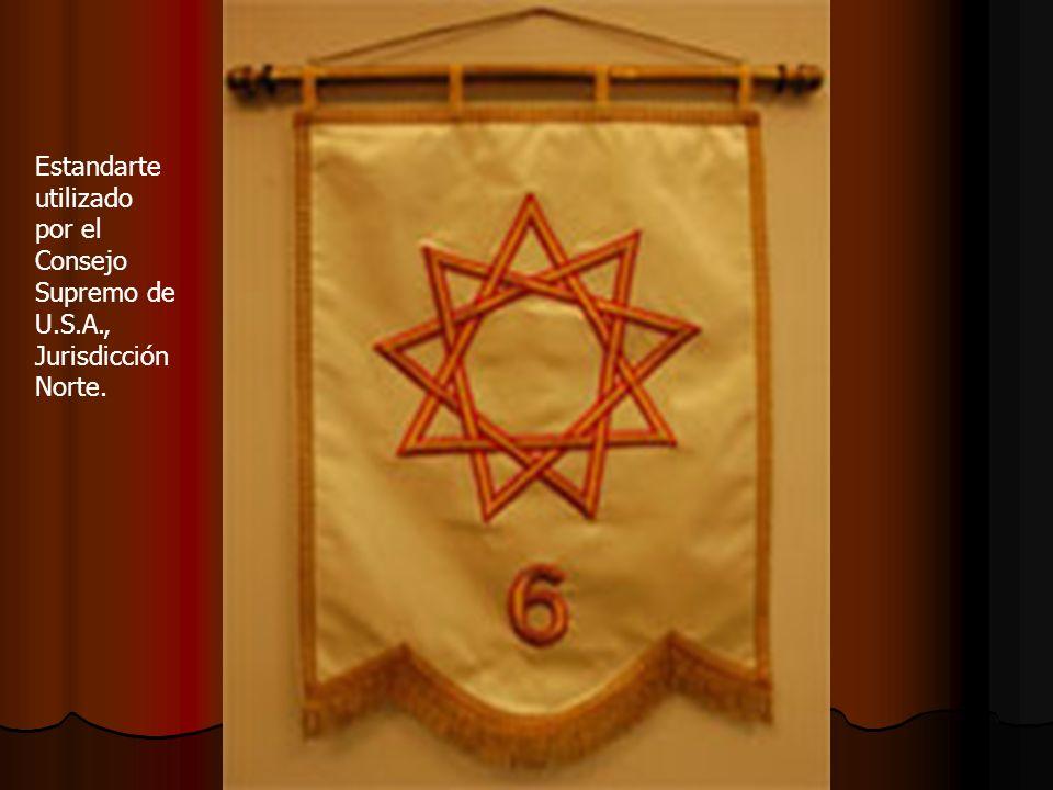 Estandarte utilizado por el Consejo Supremo de U.S.A., Jurisdicción Norte.