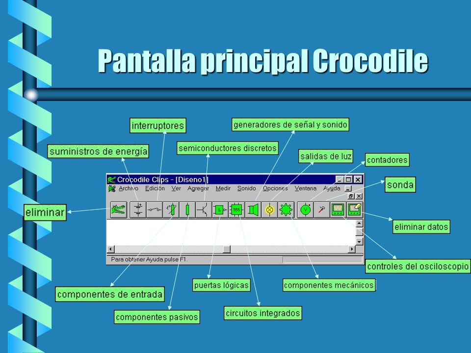 Pantalla principal Crocodile