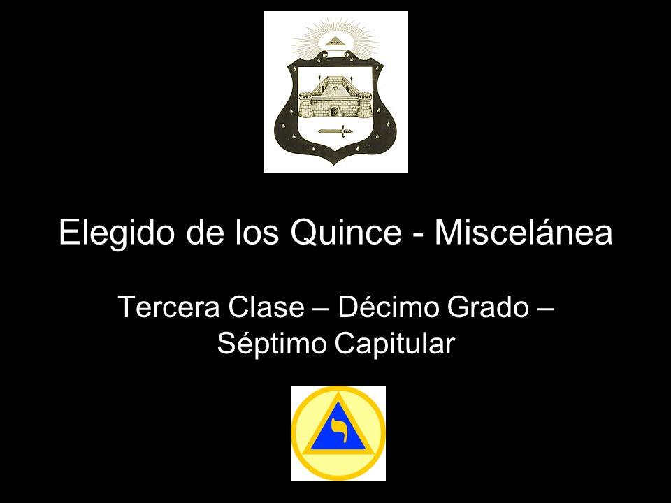 Elegido de los Quince - Miscelánea