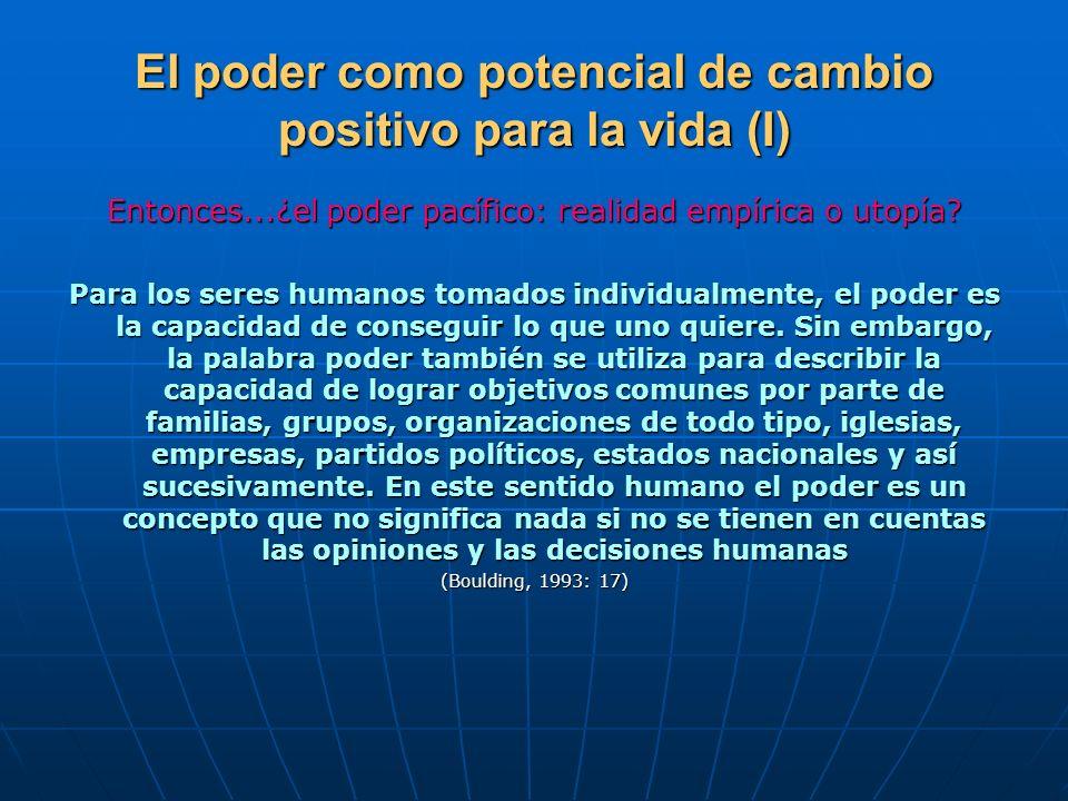 El poder como potencial de cambio positivo para la vida (I)