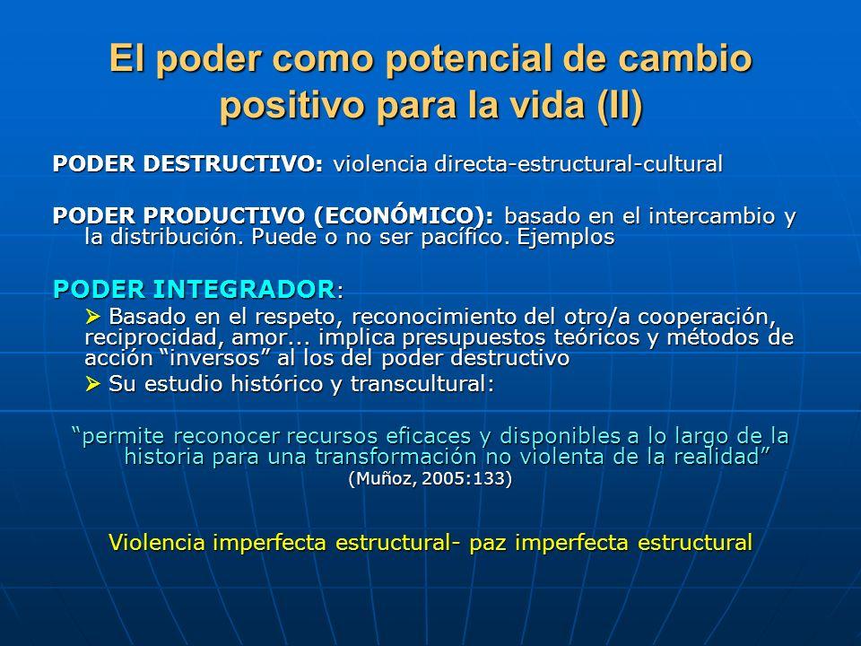El poder como potencial de cambio positivo para la vida (II)