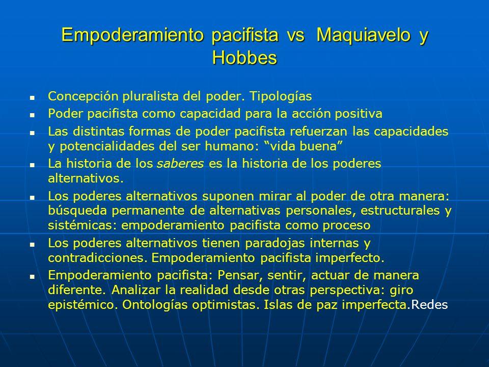 Empoderamiento pacifista vs Maquiavelo y Hobbes