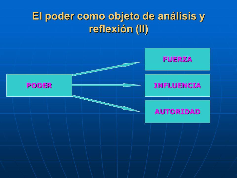 El poder como objeto de análisis y reflexión (II)