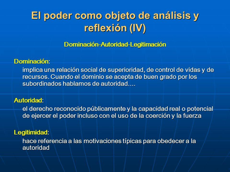El poder como objeto de análisis y reflexión (IV)