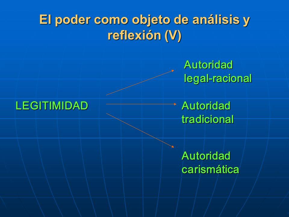 El poder como objeto de análisis y reflexión (V)