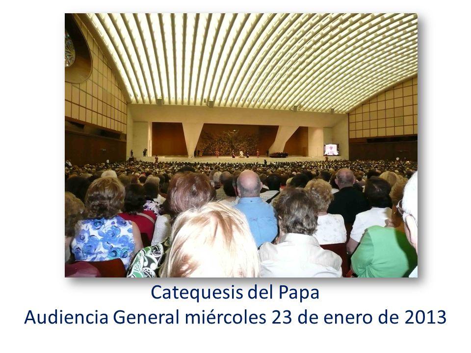 Audiencia General miércoles 23 de enero de 2013