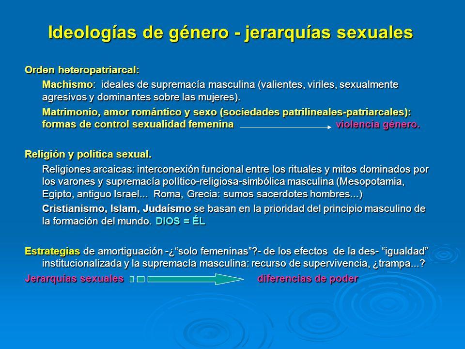 Ideologías de género - jerarquías sexuales