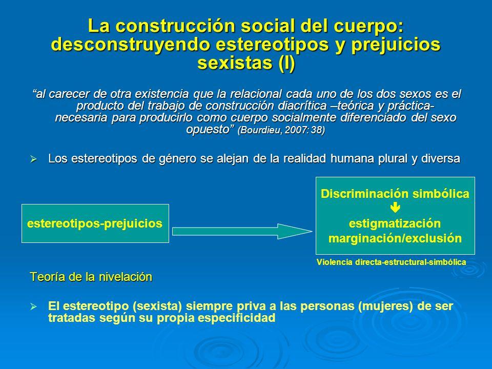 Discriminación simbólica marginación/exclusión estereotipos-prejuicios