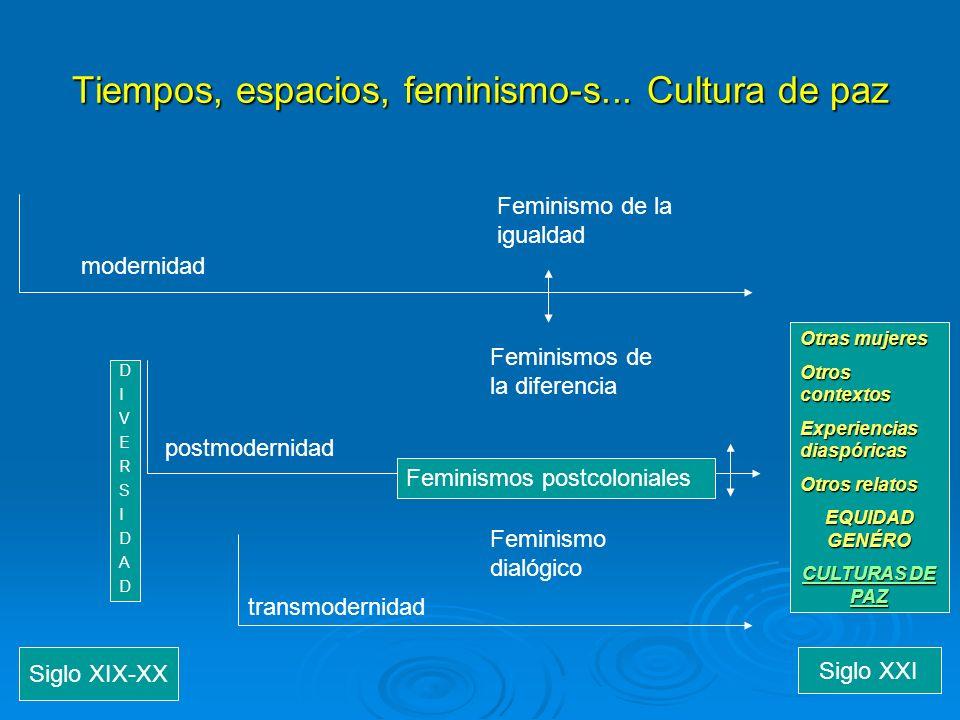 Tiempos, espacios, feminismo-s... Cultura de paz