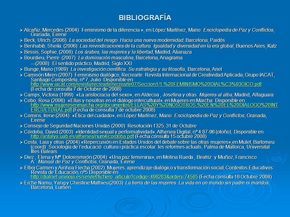 BIBLIOGRAFÍA ---(2008): El sentido práctico, Madrid, Siglo XXI