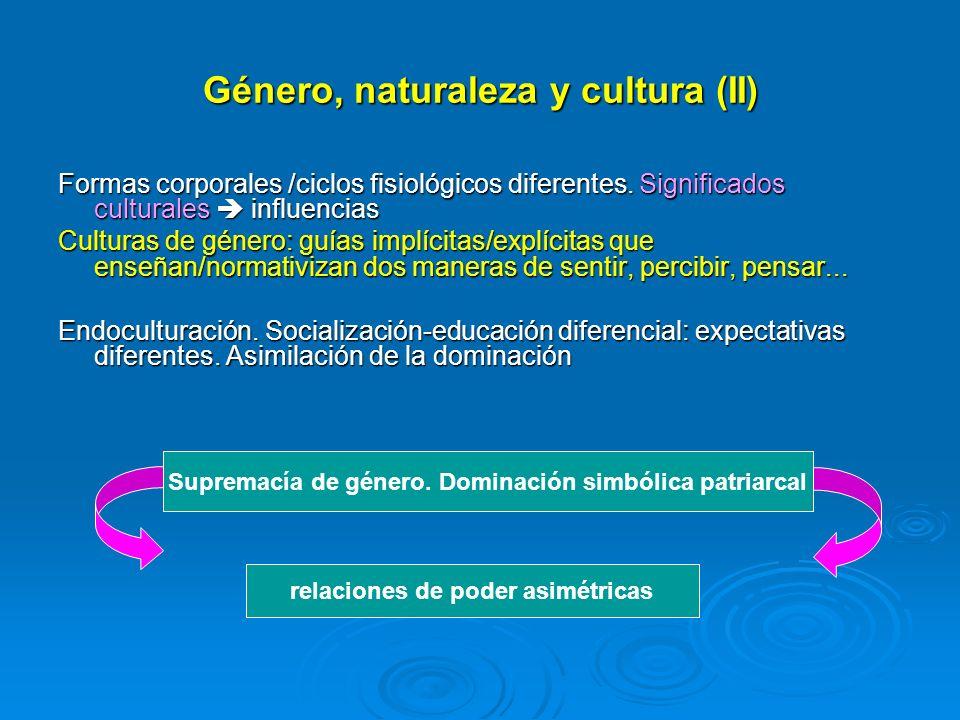 Género, naturaleza y cultura (II)