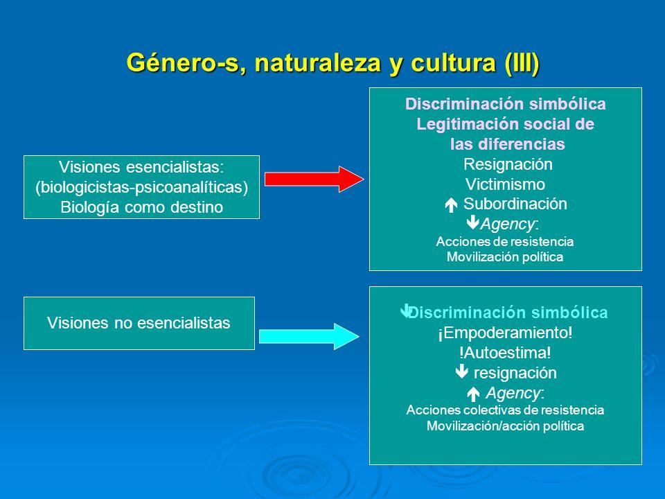 Género-s, naturaleza y cultura (III)