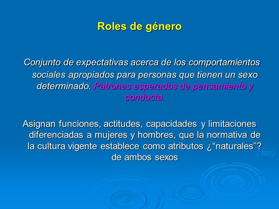 Roles de género