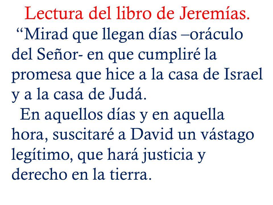 Lectura del libro de Jeremías.