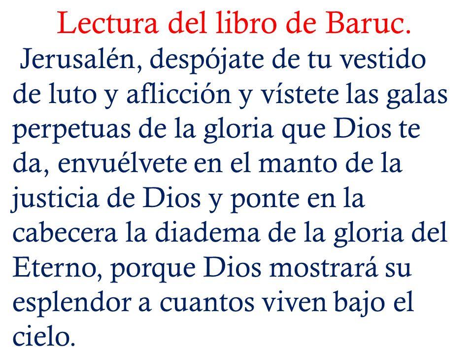 Lectura del libro de Baruc.