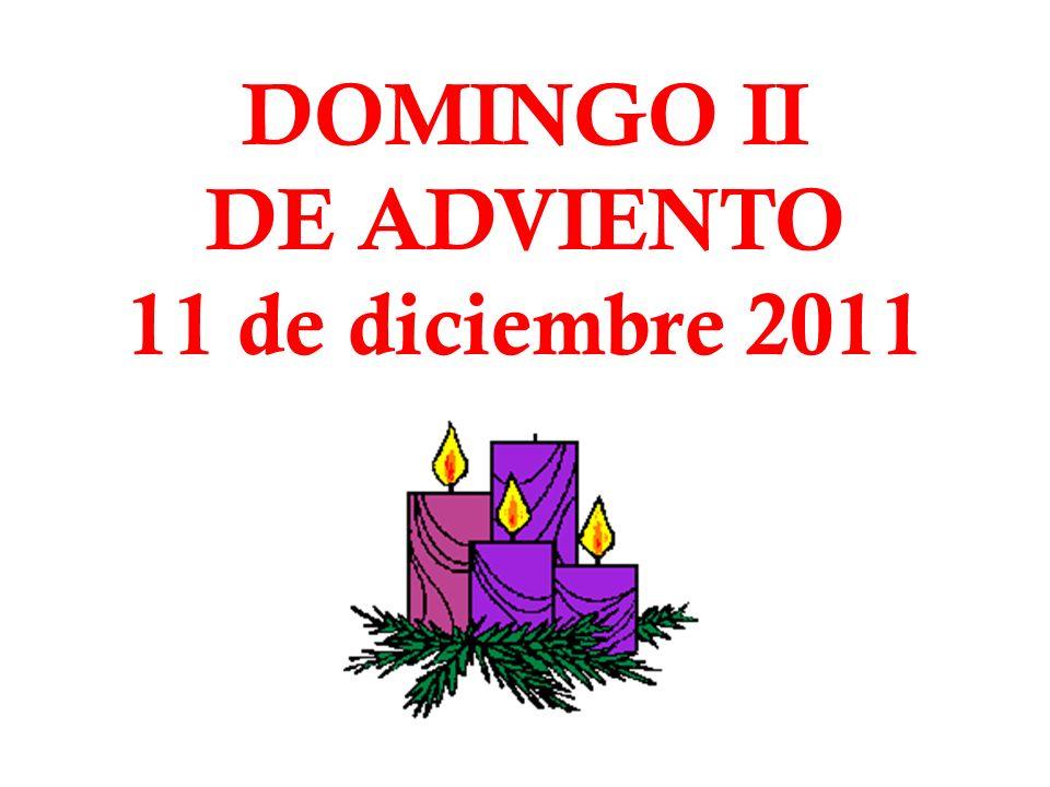 DOMINGO II DE ADVIENTO 11 de diciembre 2011