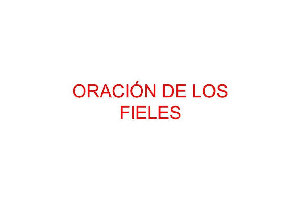 ORACIÓN DE LOS FIELES