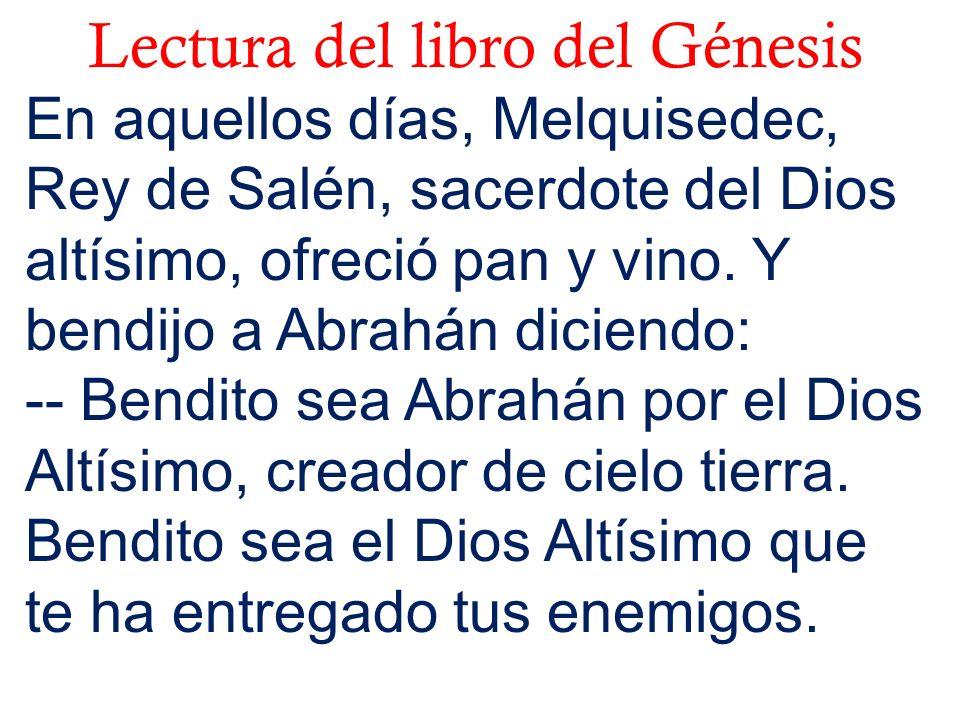 Lectura del libro del Génesis