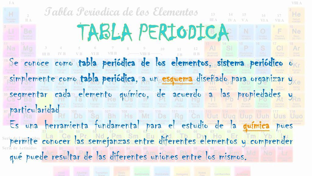 Tabla periodica se conoce como tabla peridica de los elementos 1 tabla periodica urtaz Image collections