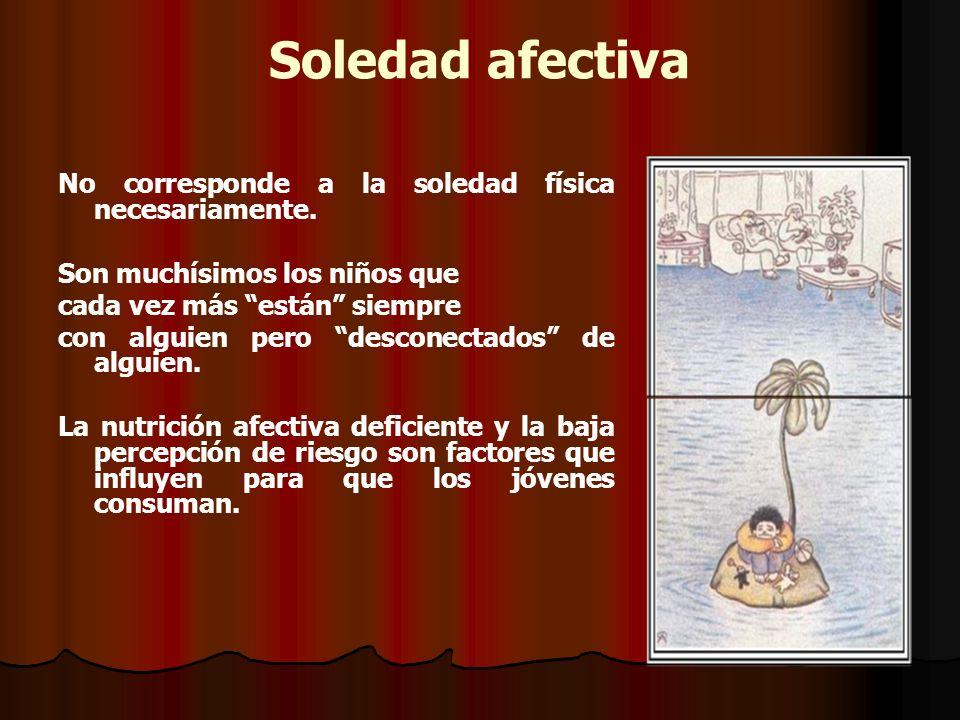 Soledad afectiva No corresponde a la soledad física necesariamente.