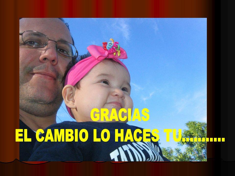 GRACIAS EL CAMBIO LO HACES TU...........