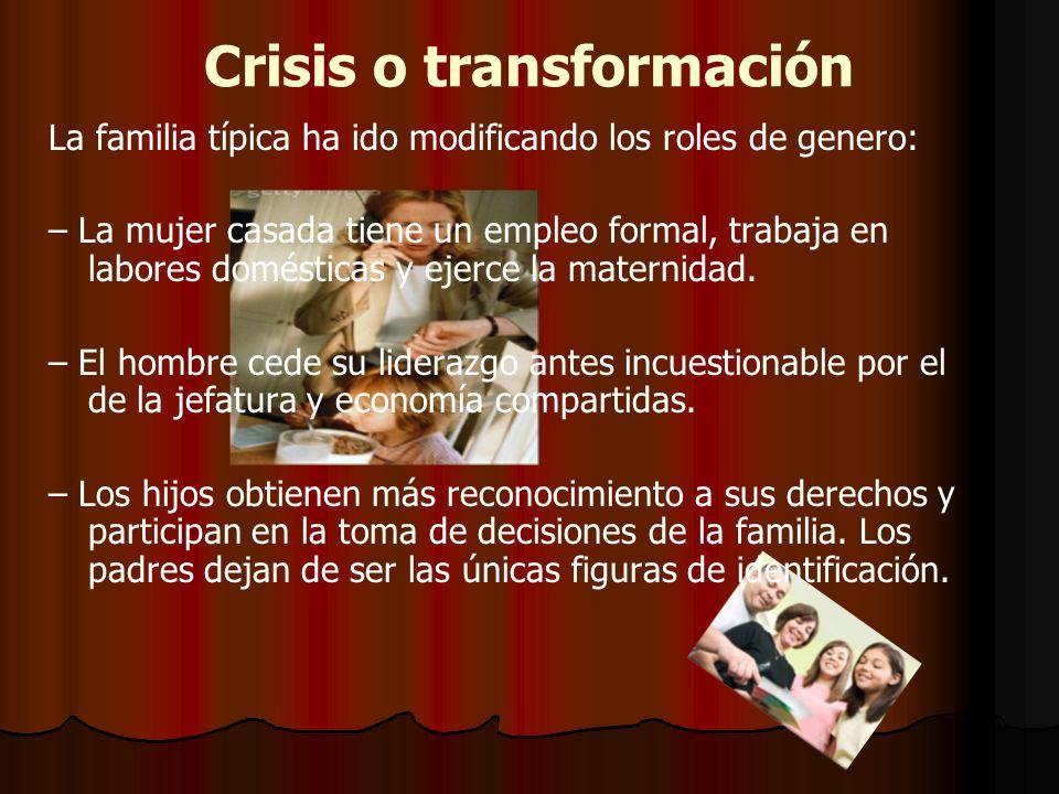 Crisis o transformación