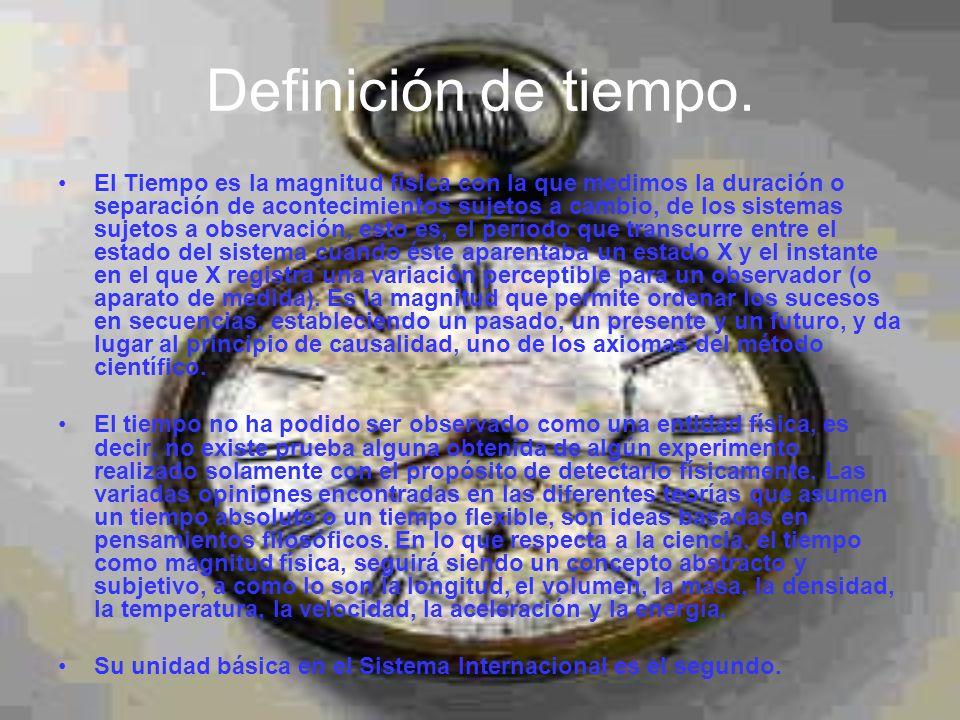 Definición de tiempo.