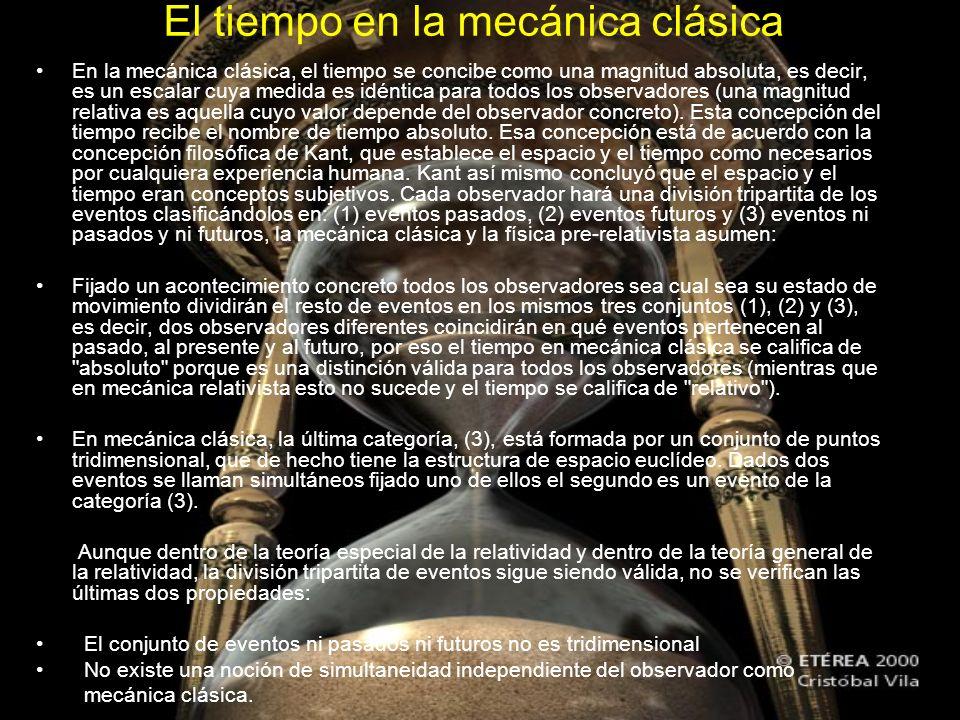 El tiempo en la mecánica clásica