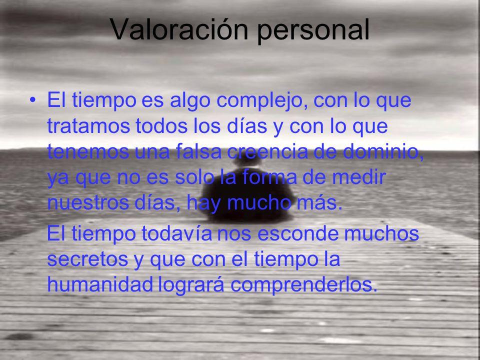 Valoración personal