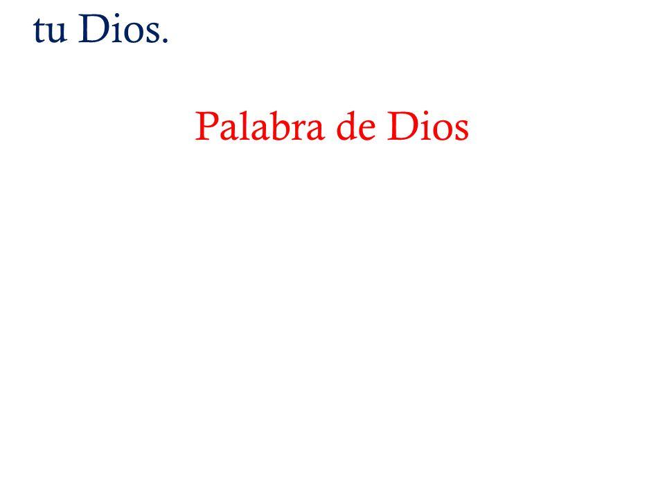 tu Dios. Palabra de Dios