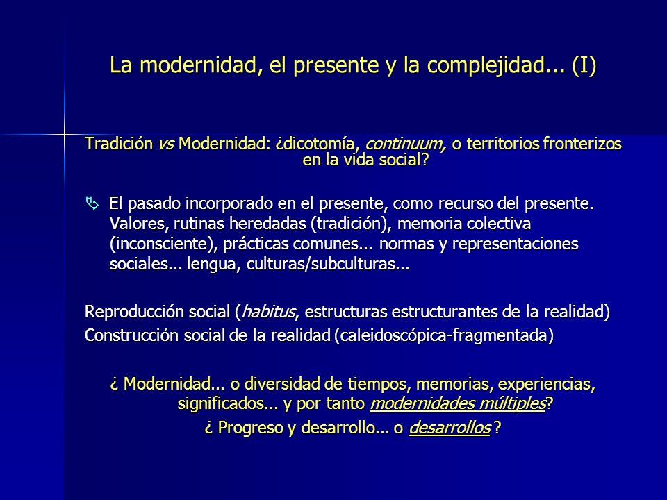 La modernidad, el presente y la complejidad... (I)