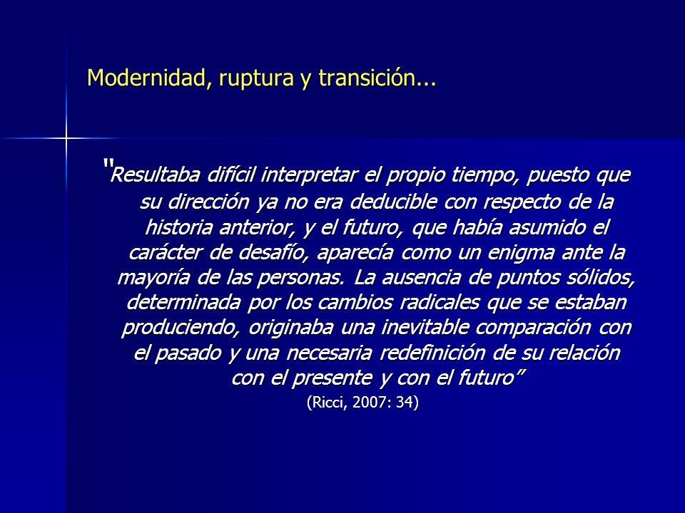 Modernidad, ruptura y transición...
