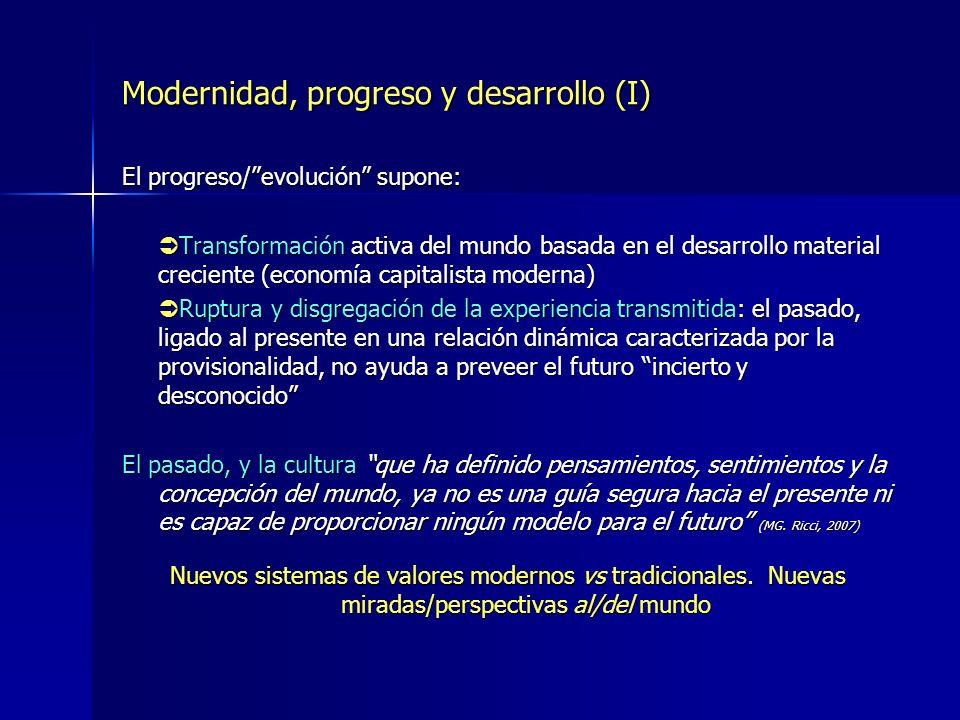 Modernidad, progreso y desarrollo (I)