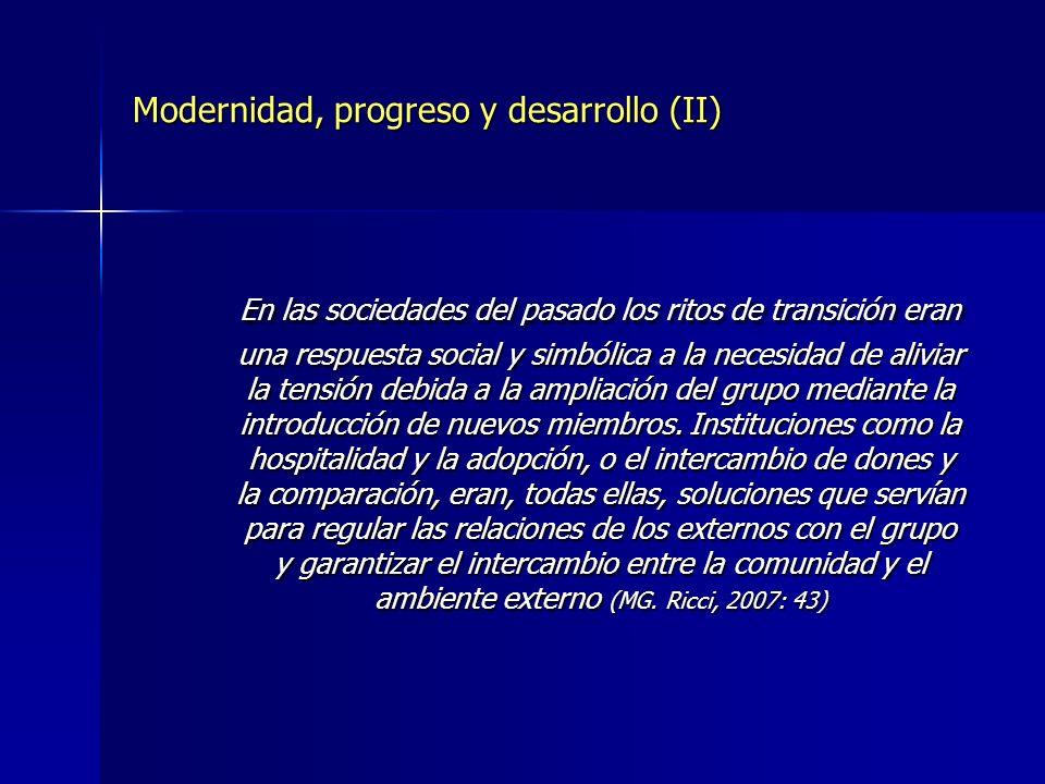 Modernidad, progreso y desarrollo (II)
