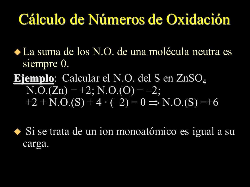 Cálculo de Números de Oxidación