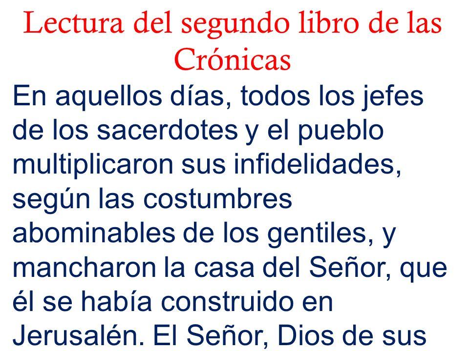 Lectura del segundo libro de las Crónicas