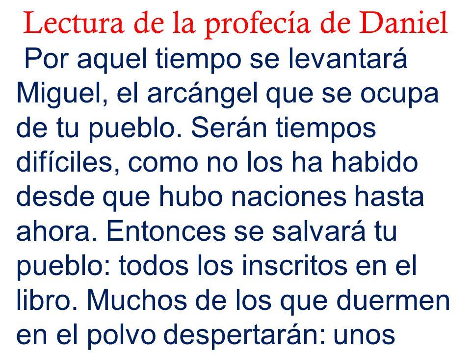 Lectura de la profecía de Daniel