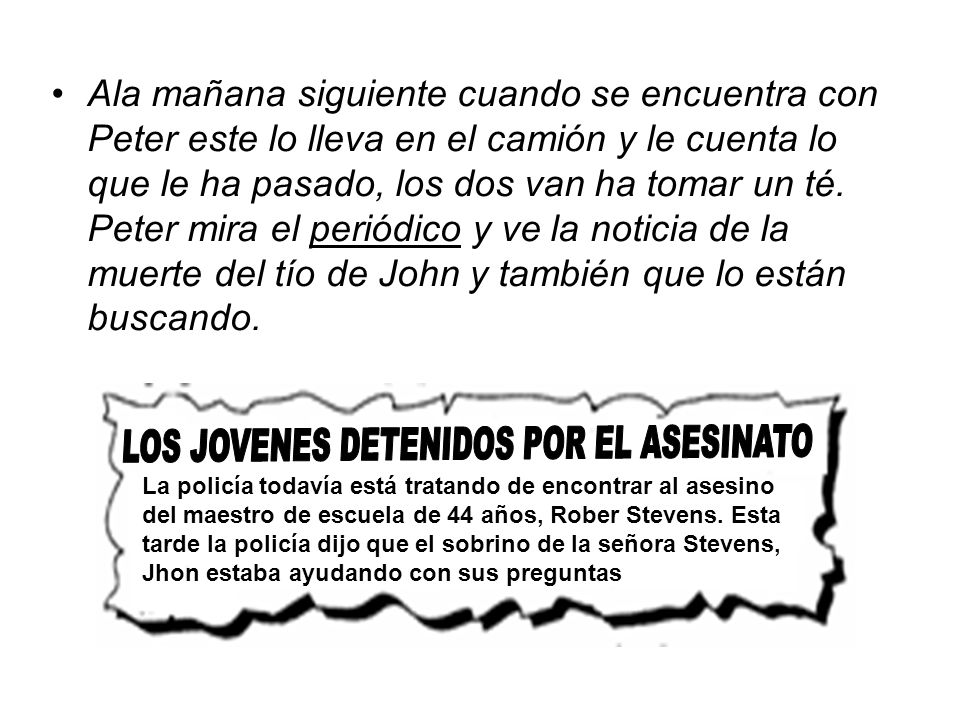 LOS JOVENES DETENIDOS POR EL ASESINATO