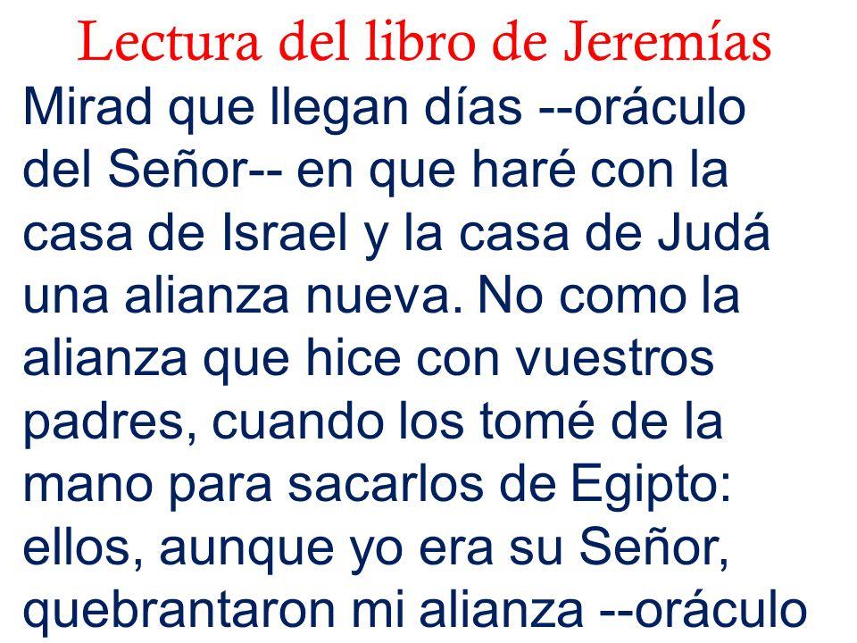 Lectura del libro de Jeremías