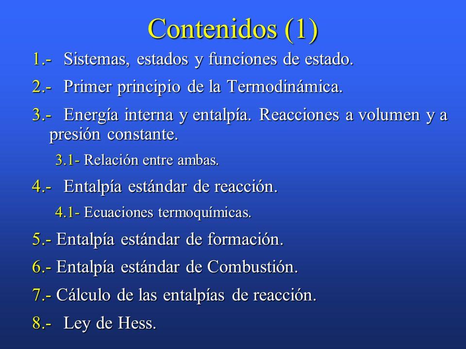 Contenidos (1) 1.- Sistemas, estados y funciones de estado.