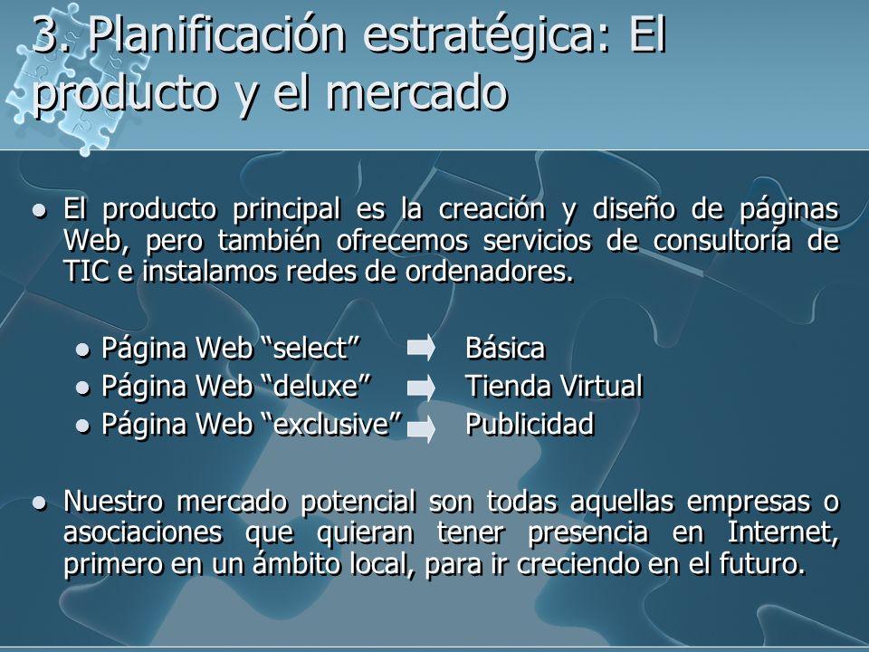 3. Planificación estratégica: El producto y el mercado