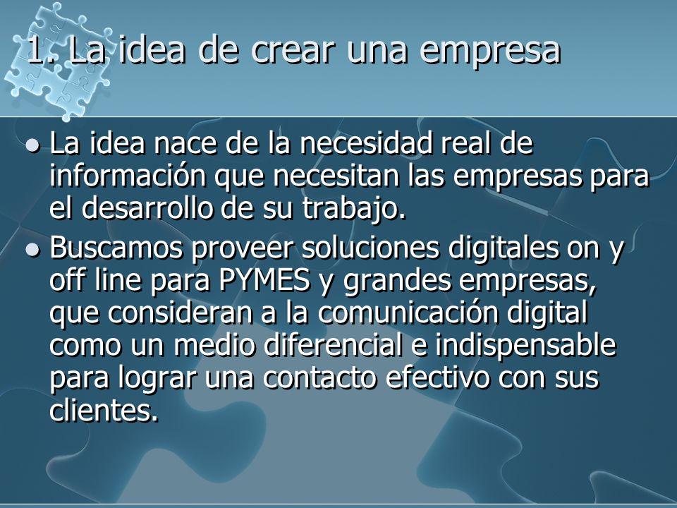 1. La idea de crear una empresa