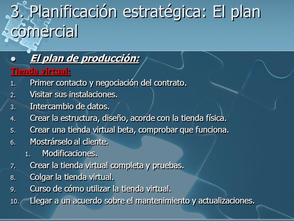 3. Planificación estratégica: El plan comercial