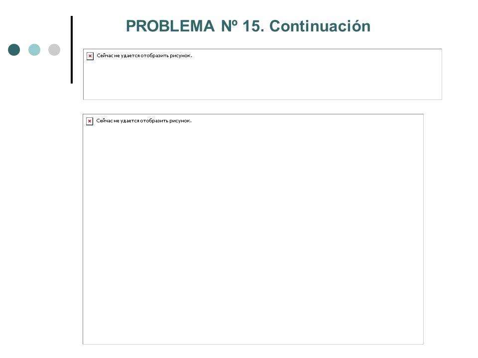 PROBLEMA Nº 15. Continuación