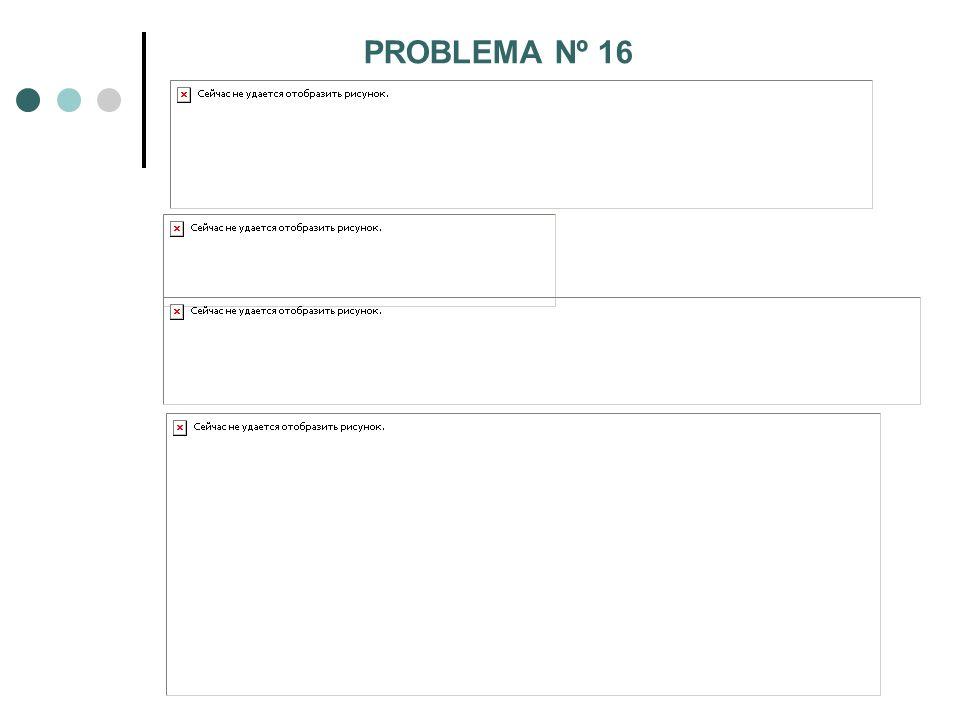 PROBLEMA Nº 16