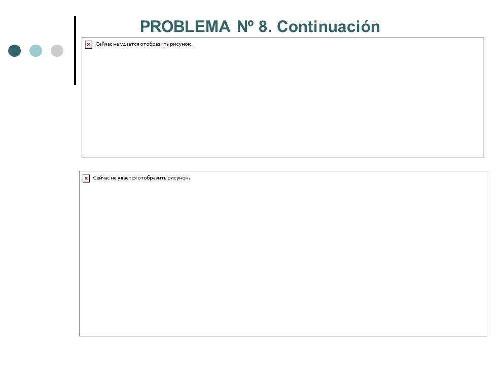 PROBLEMA Nº 8. Continuación
